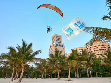 RAK hotel offers personal romantic message in the sky this month